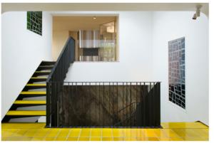 Vitrail montée d'escalier